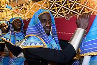 Thron bei  der Karfreitagsprozession der Semana Santa (Karwoche) in Lorca,  Provinz Murcia, Spanien, Europa