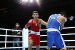 Glasgow 2014 Commonwealth Games<br /> Joseph Cordina, Wales (Red) v Chad Milnes, New Zealand (Blue)<br /> Men's Light (60kg)<br /> SECC<br /> 29.07.14<br /> ©Steve Pope-SPORTINGWALES