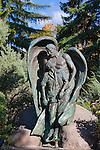 The Vietnam Veteran's memorial statue in Rose Park in Missoula, Montana