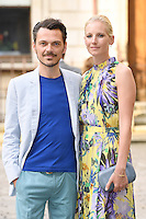 Matthew Williamson (L) and Savannah Miller arrive for the VIP preview of the Royal Academy of Arts Summer Exhibition 2016
