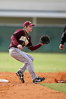 February 22, 2009:  Second baseman A.J. Pettersen of the University of Minnesota during the Big East-Big Ten Challenge at Naimoli Complex in St. Petersburg, FL.  Photo by:  Mike Janes/Four Seam Images