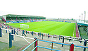 General view of the interior of Brockville Park, former home of Falkirk FC.