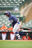 Tampa Bay Rays Emilio Gustave (66) during an Instructional League game against the Baltimore Orioles on September 19, 2016 at Ed Smith Stadium in Sarasota, Florida.  (Mike Janes/Four Seam Images)
