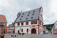 Historisches Rathaus von 1590, Bürgstadt in Unterfranken, Bayern, Deutschland