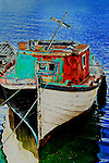 Wooden boat, Chile, South America