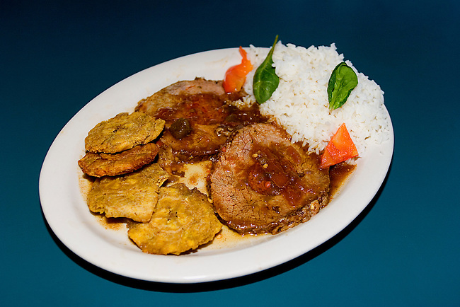 Pork, Rice, Fried Bananas, Tinos Cuban Restaurant, Orlando, Florida