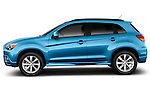 Driver side profile view of a 2012 Mitsubishi Outlander Sport.