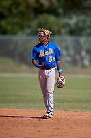 New York Mets Milton Ramos (24) during a minor league Spring Training game against the St. Louis Cardinals on March 28, 2017 at the Roger Dean Stadium Complex in Jupiter, Florida.  (Mike Janes/Four Seam Images)
