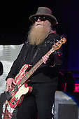 WEST PALM BEACH, FL - MAY 8: Dusty Hill of ZZ Top performs at The Coral Sky Amphitheater on May 8, 2015 in West Palm Beach Florida. Credit Larry Marano © 2015