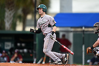 Slippery Rock Tyler Walters (15) during a game against the University of the Sciences Devils on March 6, 2015 at Jack Russell Field in Clearwater, Florida.  Slippery Rock defeated University of the Sciences 6-3.  (Mike Janes/Four Seam Images)