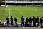 Harestanes AFC v Girvan FC, 15/08/2015. Scottish Cup preliminary round, Duncansfield Park. Third-choice home keeper Scott McNab (38) watching the first-half action as Harestanes AFC take on Girvan FC in a Scottish Cup preliminary round tie, staged at Duncansfield Park, home of Kilsyth Rangers. The home team were the first winners of the Scottish Amateur Cup to be admitted directly into the Scottish Cup in the modern era, whilst the visitors participated as a result of being members of both the Scottish Football Association and the Scottish Junior Football Association. Girvan won the match by 3-0, watched by a crowd of 300, which was moved from Harestanes ground as it did not comply with Scottish Cup standards. Photo by Colin McPherson.