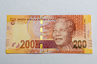 South Africa, Currency Showing Nelson Mandela.  Two Hundred Rand.