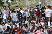 RAPHAL YEM, DAMIEN LAURETTA, VALERIE TRIERWEILER - LE SECOURS POPULAIRE A DISNEYLAND PARIS, FRANCE, LE 04/04/2017.
