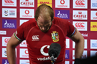 Alun Wyn Jones - British & Irish Lions captain stand dejected after the Lions were defeated 19-16 in the third test as the Springboks win the series 2-1.<br /> British & Irish Lions v South Africa,  3rd Test, Cape Town Stadium, Cape Town, South Africa,  Saturday 7th August 2021. <br /> Please credit: FOTOSPORT/DAVID GIBSON