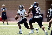 SAN ANTONIO, TX - APRIL 20, 2019: The University of Texas at San Antonio Roadrunners hold their UTSA Football Fiesta Spring Game at Dub Farris Stadium. (Photo by Jeff Huehn)