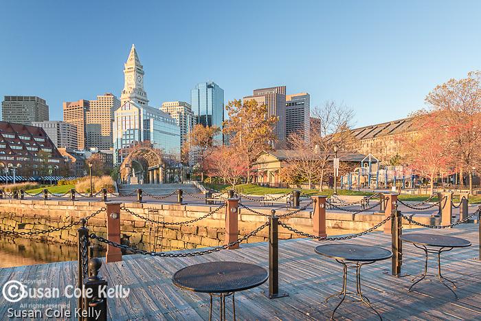 Autumn in Waterfront Park, Boston, Massachusetts, USA