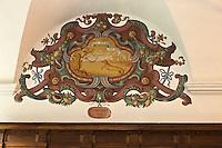 Europe/France/Provence-Alpes-Côtes d'Azur/06/Alpes-Maritimes/Alpes-Maritimes/Arrière Pays Niçois/Saorge: Peintures murales du Réfectoire du  Couvent des Franciscains