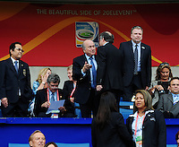 Fifa Women's World Cup Germany 2011 : Zweden - France Frankrijk at Sinsheim World Cup stadium : Sepp Blatter in eretribune.foto DAVID CATRY / Vrouwenteam.be