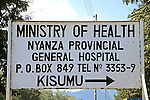 Nyanza Provincial General Hospital Sign