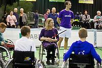 Rotterdam, The Netherlands, Februari 8, 2016,  ABNAMROWTT, Sports Plaza, Esther Vergeer (NED)<br /> Photo: Tennisimages/Henk Koster