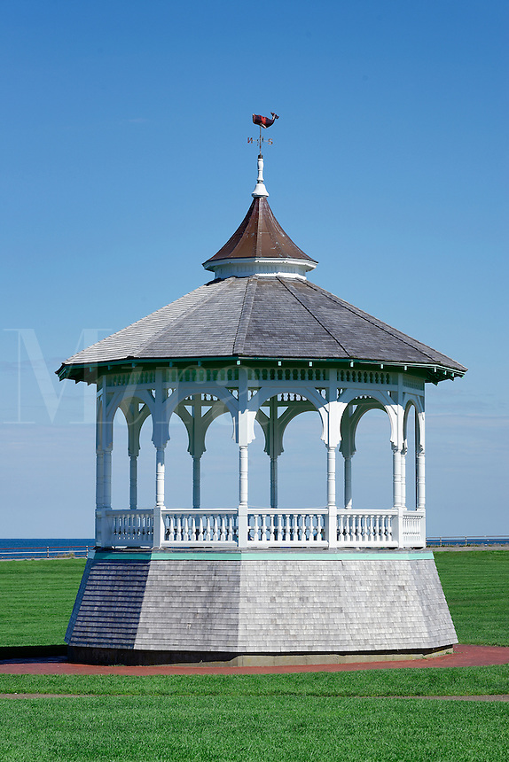 Gazebo, Ocean Park, Ocean Park, Oak Bluffs, Martha's Vineyard, Massachusetts, USA