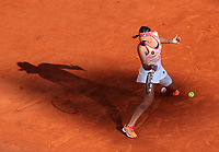 10th October 2020, Roland Garros, Paris, France; French Open tennis, Ladies singles final 2020;  Sofia Kenin of the United States hits a return during the womens singles final against Iga Swiatek of Poland at the French Open tennis tournament