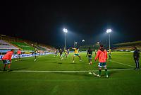 BOGOTA - COLOMBIA, 25-04-2021: La Equidad y Atletico Nacional en partido por los cuartos de final, ida, como parte de la Liga BetPlay DIMAYOR I 2021 jugado en el estadio Estadio Metroplitano de Techo de la ciudad de Bogotá. / La Equidad and Atletico Nacional in match for the quarterfinal first leg as part of BetPlay DIMAYOR League I 2021 played at Metropolitano de Techo stadium in Bogota city. Photo: VizzorImage / Samuel Norato / Cont