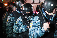 "Figters of the special force ""Berkut""  on the European square in Kiev. Ukraine"