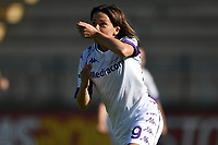 Daniela Sabatino of ACF Fiorentina celebrates after scoring the goal of 0-1 during the women Serie A football match between AS Roma and ACF Fiorentina at Tre Fontane Stadium in Roma (Italy), November 7th, 2020. Photo Andrea Staccioli / Insidefoto