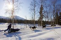 Jessie Royer leaves Takotna Chkpt after 24hr layover  Takotna 2006 Iditarod Alaska Winter