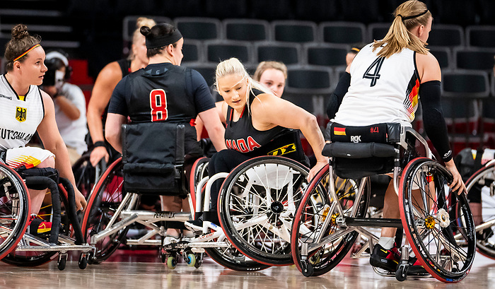 Melanie Hawtin, Tokyo 2020 - Wheelchair Basketball // Basketball en fauteuil roulant.<br /> Canada takes on Germany in a women's preliminary game // Le Canada affronte le Japon dans un match préliminaire masculin. 28/08/2021.
