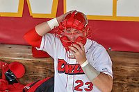 Brennan Morgan (23) of the Orem Owlz before the game against the Grand Junction Rockies in Pioneer League action at Home of the Owlz on July 6, 2016 in Orem, Utah. The Owlz defeated the Rockies 9-1 in Game 1 of the double header.   (Stephen Smith/Four Seam Images)