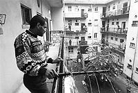 - immigrant in the popular houses of the Stadera quarter in Milan ....- immigrato nelle case popolari del quartiere Stadera a milano