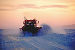 Plow truck on Great Salve lake ice road