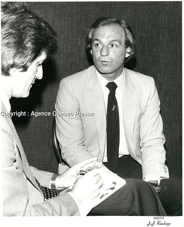 Photos d'archives de Guy Lafleur, 1981<br /> PHOTO : Agence Quebec Presse