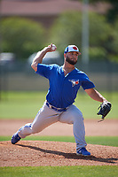 Toronto Blue Jays pitcher Brad Wilson (35) during a Minor League Spring Training game against the Philadelphia Phillies on March 29, 2019 at the Carpenter Complex in Clearwater, Florida.  (Mike Janes/Four Seam Images)