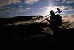 Art Wolfe on location, Sol de Manana Geyser Basin, Bolivia