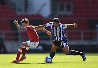 27th September 2020; Ashton Gate Stadium, Bristol, England; English Football League Championship Football, Bristol City versus Sheffield Wednesday; Massimo Luongo of Sheffield Wednesday competes for the ball with Jamie Paterson of Bristol City