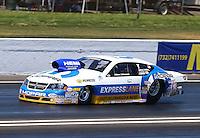 Jun. 1, 2013; Englishtown, NJ, USA: NHRA pro stock driver Allen Johnson during qualifying for the Summer Nationals at Raceway Park. Mandatory Credit: Mark J. Rebilas-
