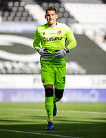 12th September 2020; Pride Park, Derby, East Midlands; English Championship Football, Derby County versus Reading; Reading Goalkeeper Rafael Cabral Barbosa during the match