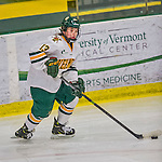13 February 2015: University of Vermont Catamount Defender Gina Repaci, a Junior from Toronto, Ontario, in second period action against the University of New Hampshire Wildcats at Gutterson Fieldhouse in Burlington, Vermont. The Lady Catamounts fell to the visiting Wildcats 4-2 in the first game of their weekend Hockey East series. Mandatory Credit: Ed Wolfstein Photo *** RAW (NEF) Image File Available ***
