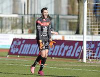 FC Knokke - OMS Ingelmunster : doelman Maxence Dannel<br /> Foto VDB / Bart Vandenbroucke