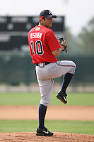 March 23rd 2008:  Edgar Osuna of the Atlanta Braves minor league system during Spring Training at Disney's Wide World of Sports in Orlando, FL.  Photo by:  Mike Janes/Four Seam Images