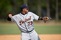 Detroit Tigers Martin Olivas (73) during an Instructional League instrasquad game on September 20, 2019 at Tigertown in Lakeland, Florida.  (Mike Janes/Four Seam Images)
