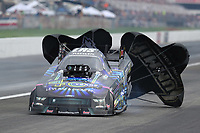 Aug 31, 2019; Clermont, IN, USA; NHRA funny car driver Tim Wilkerson during qualifying for the US Nationals at Lucas Oil Raceway. Mandatory Credit: Mark J. Rebilas-USA TODAY Sports