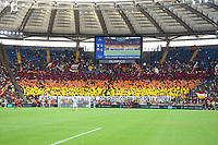 26th September 2021;  Stadio Olimpico, Rome, Italy; Italian Serie A football, SS Lazio versus AS Roma; Roma's supporters as the game gets underway