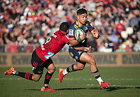 Josh Ioane in action during the 2020 Super Rugby match between the Crusaders and Highlanders at Orangetheory Stadium in Christchurch, New Zealand on Saturday, 9 August 2020. Photo: Joe Johnson / lintottphoto.co.nz