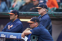 Virginia Cavaliers head coach Brian O'Conner looks on during the game against the Duke Blue Devils in Game Seven of the 2017 ACC Baseball Championship at Louisville Slugger Field on May 25, 2017 in Louisville, Kentucky. The Blue Devils defeated the Cavaliers 4-3. (Brian Westerholt/Four Seam Images)