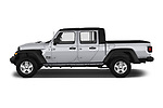 Car Driver side profile view of a 2020 JEEP Gladiator Sport-S 4 Door Pick-up Side View