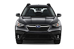 Car photography straight front view of a 2020 Subaru Outback Premium 5 Door Wagon Front View